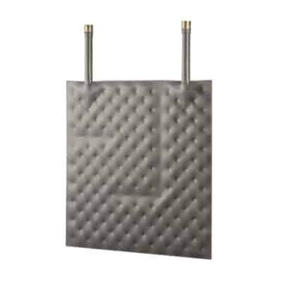 Coated plate heat exchanger square