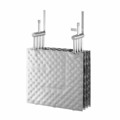 Pillow plate heat exchanger quad square
